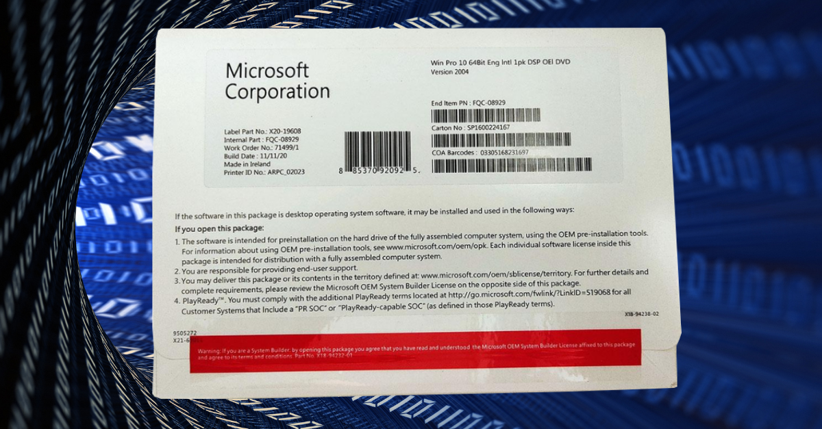 Licenca za Windows 10 PRO na CGprodavnici
